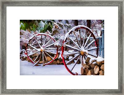 Oo Wagon Wheels Impressionistic Framed Print by Scott Campbell