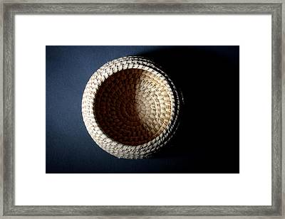 Oodham Basket Framed Print by Joe Kozlowski