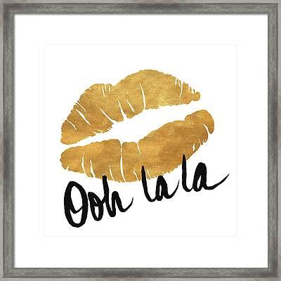 Ooh La La Lips Framed Print