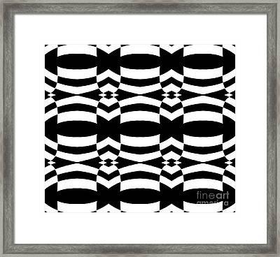 Op Art Black White Pattern No.139  Framed Print by Drinka Mercep