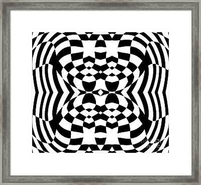 Op Art Geometric Pattern Black White Print No.230. Framed Print by Drinka Mercep