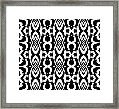 Op Art Pattern Geometric Black White Art No.338. Framed Print by Drinka Mercep