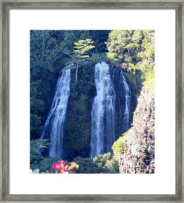 Opaeka'a Falls Framed Print