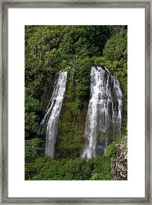 Opaeka'a Falls Located On The Wailua Framed Print