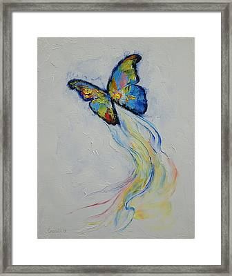 Opal Butterfly Framed Print by Michael Creese