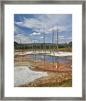 Opalescent Pool Framed Print