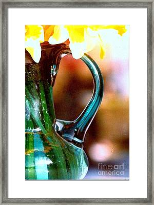 Framed Print featuring the photograph New Orleans Opaque Blue Green Vase by Michael Hoard