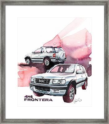 Opel Frontera Framed Print by Yoshiharu Miyakawa