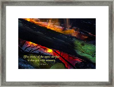 Open Air Fires Framed Print by Mike Flynn