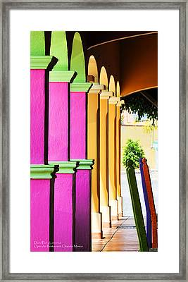 Open Air Restaurant - Mexico - Travel Photography By David Perry Lawrence Framed Print by David Perry Lawrence