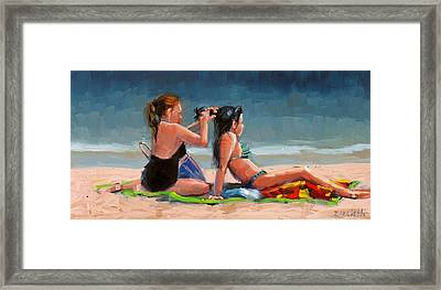 Open Air Salon Framed Print by Laura Lee Zanghetti