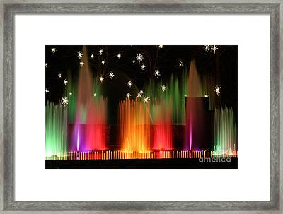 Open Air Theatre Rainbow Fountain Framed Print
