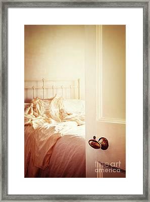 Open Bedroom Door Framed Print by Amanda Elwell