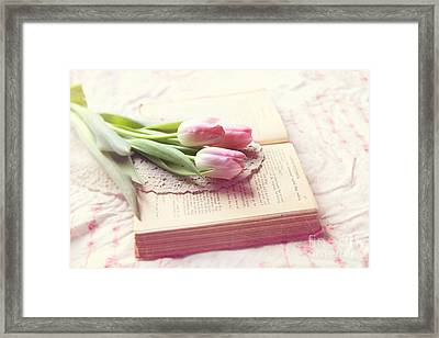 Open Book Framed Print by Sylvia Cook
