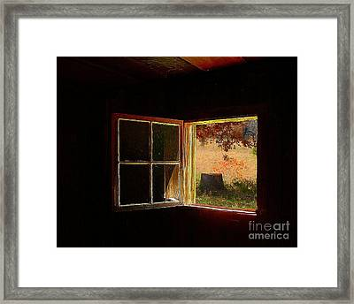 Open Cabin Window II Framed Print by Julie Dant