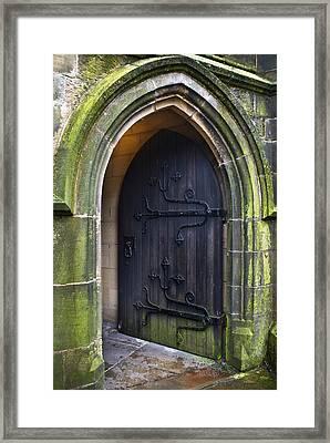 Open Church Door Framed Print