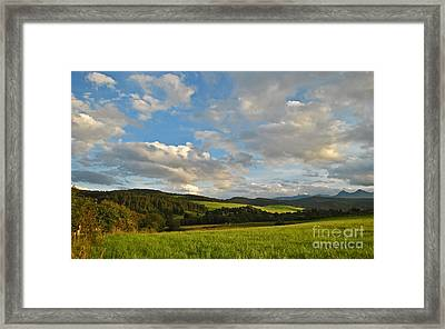open clear blue skies over Tatra moutains on south of poland Framed Print