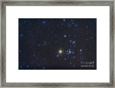 Open Cluster Hyades And Giant Star Framed Print by Alan Dyer