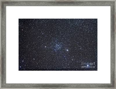 Open Clusters Messier 35 And Ngc 2158 Framed Print by Alan Dyer