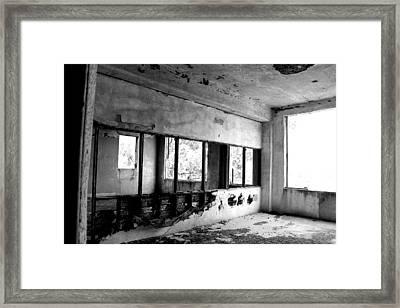 Open Concept Bw Framed Print by Elizabeth Sullivan