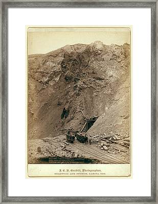 Open Cut In The Great Homestake Mine, At Lead City Framed Print