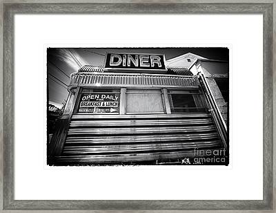 Open Daily Breakfast And Lunch Framed Print