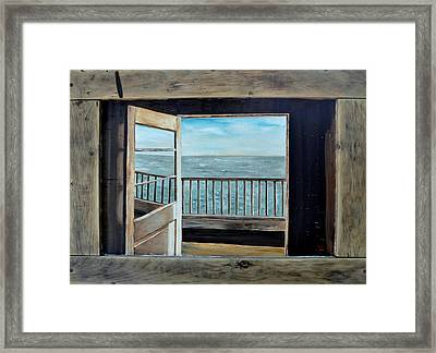 Framed Print featuring the painting Open Door by Lindsay Frost