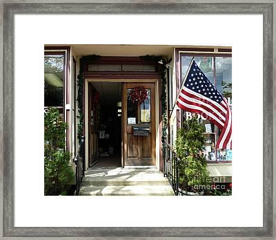 Open Door Of Bordentown Framed Print
