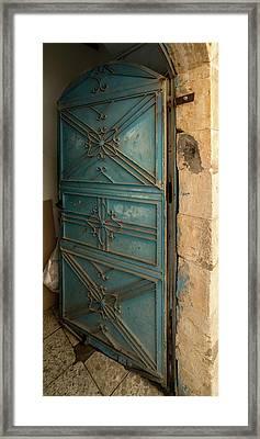 Open Door, Safed Zfat, Galilee, Israel Framed Print