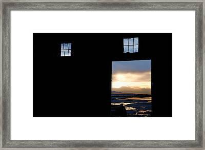 Open Door Sunset - A Great Salt Lake Sunset Framed Print by Steven Milner