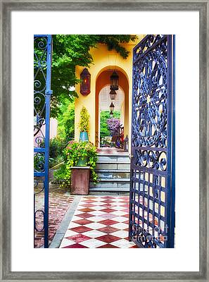 Open Doorway To Southern Living Framed Print