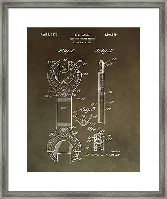 Open End Ratchet Wrench Patent Framed Print by Dan Sproul