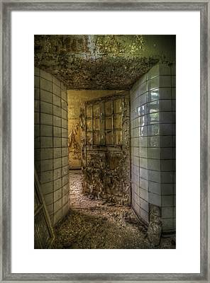 Open Flake Door Framed Print by Nathan Wright