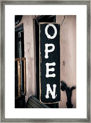 Framed Print featuring the photograph Open For Business by Sennie Pierson