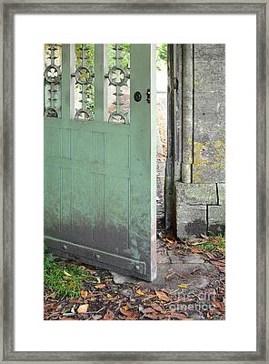 Open Garden Gate Framed Print by Jill Battaglia