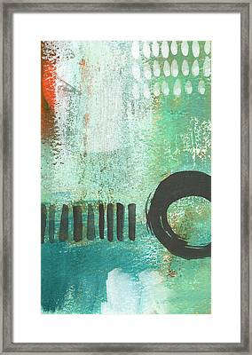 Open Gate- Contemporary Abstract Painting Framed Print by Linda Woods
