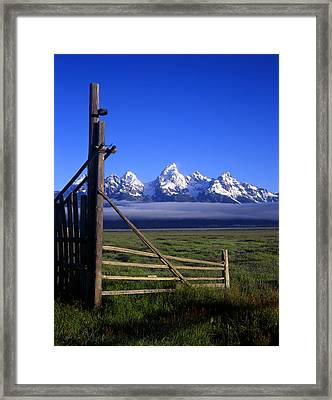 Open Gate Framed Print by Mike Norton
