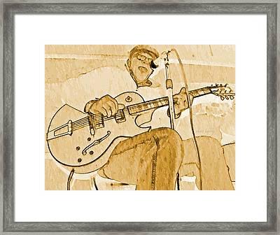 Open Jam Night Framed Print by Chris Berry