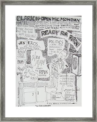 Open Mic Monday Ready For Ripon  Framed Print by James Christiansen