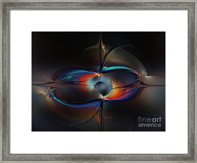 Open Minded-abstract Art Framed Print