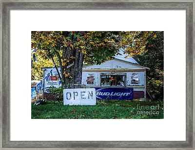 Open Or Closed Framed Print