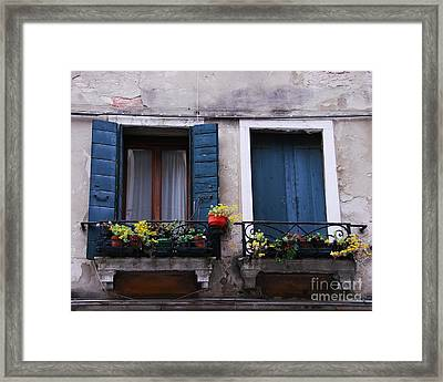 Open Or Closed Framed Print by Mel Steinhauer