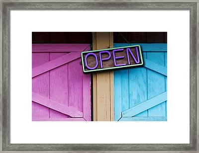 Open Framed Print by Paul Wear
