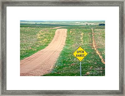 Open Range Framed Print