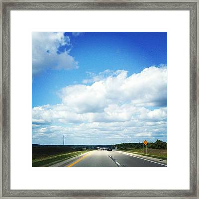 Open Road Framed Print by Christy Beckwith