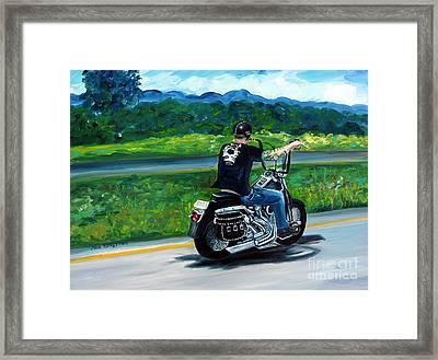 Open Road Framed Print by Julie Brugh Riffey