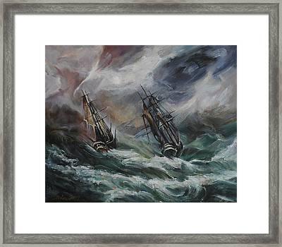 Open Sea - Dangerous Drift II Framed Print by Stefano Popovski