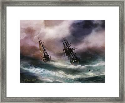 Open Sea Dangerous Drift Framed Print