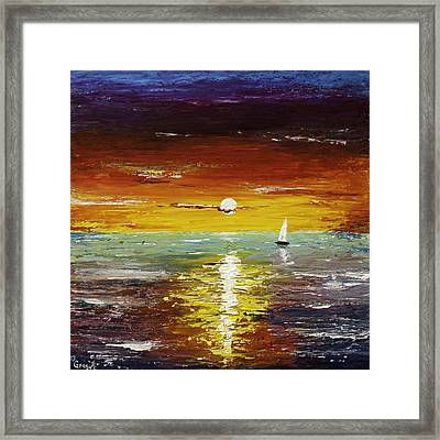 Open Sea Framed Print