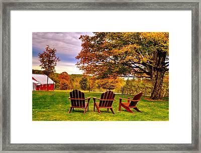 Open Seating Framed Print
